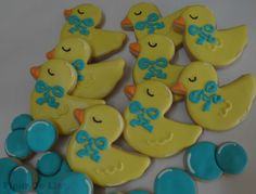Items similar to 2 Dozen Rubber Duck Cookies on Etsy Duck Cookies, Baby Cookies, Baby Shower Cookies, Royal Icing Cookies, Cupcake Cookies, Sugar Cookies, Baby Shower Deco, Baby Boy Shower, Baby Showers