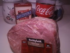 Ham with Coca Cola and Brown Sugar - I add more coke and sugar than the recipe says, it's good when the ham is sitting in the Coke and sugar, more of that sweet goodness. add pineapple for extra flavor!