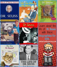 Learn about the life of Dr. Seuss with these fun biographies for kids! | embarkonthejourney.com