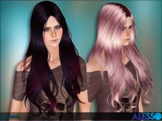 Quantum hair by Alesso - Sims 3 Downloads CC Caboodle  Check more at http://customcontentcaboodle.com/quantum-hair-by-alesso/