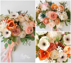 Christine Paper Design - it\'s me Flower Bouquet Diy, Paper Bouquet, Wedding Bouquet, Paper Flowers Wedding, Crepe Paper Flowers, Shabby Chic Paper, Paper Flower Arrangements, Flower Crafts, Craft Flowers