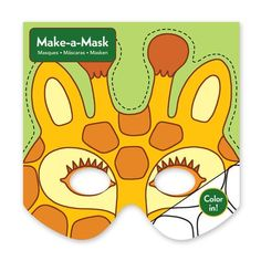 Mudpuppy Make-a-Mask Jungle Animals