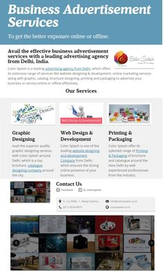 Flyer of Business #Advertising services.