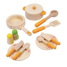 Gourmet Kitchen Starter Set  No kitchen is complete without these basic foods and utensils.  Age 3 to 99 Years