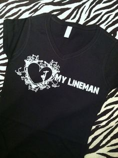 f9d0ed68 24 Best Female lineman apparel images | Lineman shirts, Lineman wife ...