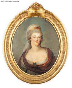 A portrait of Marie Antoinette, 18th century.