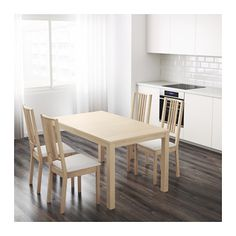 BJURSTA Extendable table, birch veneer