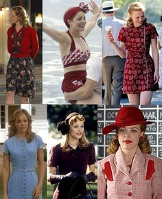 Rachel McAdams' looks in The Notebook. So I think I'm going back to my vintage inspired looks. Vintage Outfits, Vintage Inspired Outfits, 1940s Fashion, Vintage Fashion, Fashion Women, Estilo Pin Up, Kate Middleton, 20th Century Fashion, Glamour