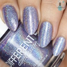 Jill is a light lavender holographic polish with blue undertones with added micro glitters and shimmers. Opaque in 2 coats. Swatches courtesy of idanailsit.com, @lylynails (ig), kelliegonzo.comALL polishes contain a 3-FREE (Dibutyl Phthalate (DBP), Formaldehyde and Toluene) cruelty free uncut nail polish suspension base and stainless steel mixing balls. Some may contain glitter and other pigments. Some pigments may settle over time, it's best to give your polish a good shake...