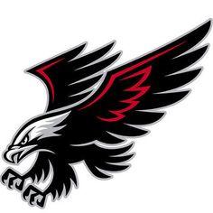 Best Tribal Hawk Tattoo Design - Simple black and red flying hawk. Bird Tattoo Meaning, Tattoos With Meaning, Tattoo Meanings, Eagle Mascot, Eagle Logo, Logo Esport, Team Logo, Hawk Logo, Falcon Logo