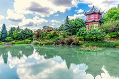 Chinese Temple Garden in Montreal Montreal, Exposition Photo, Temple Gardens, Golf Courses, Photos, Images, Nature, River, Chinese