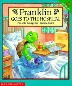 This book is adorable, I love Franklin!  It is great to read a book like this about a hospital experience, either before, during, or after the stay, as it can help bring up feelings, fears, and help create more positive memories.  It can also be good for a child to bring in to school as part of a show and tell about their trip to the hospital.
