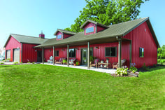 metal building houses Post Frame Homes. Combining housing with an attached hobby shop, storage garage, or even equestrian stables are the trend. By its nature, post frame is alrea Metal House Plans, Pole Barn House Plans, Pole Barn Home Kits, Barn House Kits, Barn Plans, Metal Barn Homes, Pole Barn Homes, Steel Building Homes, Building A House