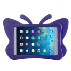 For+iPad+Mini+1/2/3+Purple+Butterfly+EVA+Protective+Case+with+Holder