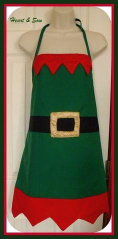 Santa's elf apron More