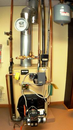 Furnace.  Brand new in 2008 it's used primarily to heat hot water.
