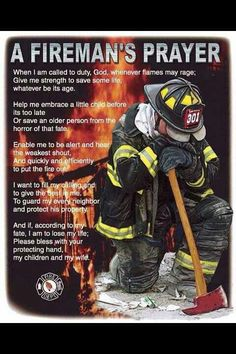 A fireman's prayer.