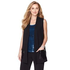 Product I designed for Slinky® Brand Duster Vest with Sequin Pockets