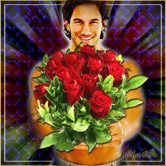 Анимированная открытка эти розы для тебя