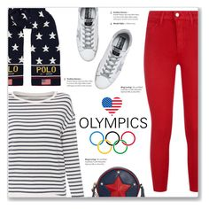 """""""2018 Olympics: Stars & Stripes"""" by kellylynne68 ❤ liked on Polyvore featuring L'Agence, Majestic Filatures, Ralph Lauren, Golden Goose and Tommy Hilfiger"""