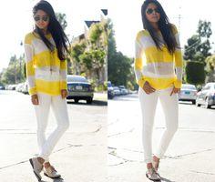 Shopexcessbaggage.Com Shoreline Knit Top, Zara White Denim, Halogen Loafers
