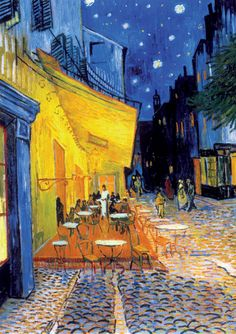 Cafe Terrace at Night - Van Gogh Munsell Complements: Purple Blue and Yellow