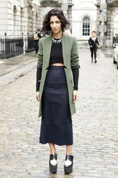 Street Style at London Fashion Week S'14. Photo by Anthea Simms.