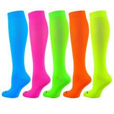 448feb7ed 1pr TCK Krazisox Neon Elite Socks Knee-High