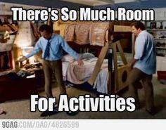 Soooo much room for activities