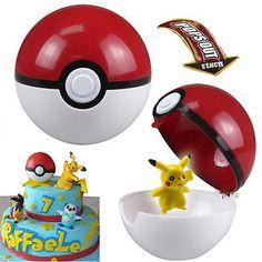 Pokemon Pokeball Ball Pop Up PVC Plastic Toys Pikachu Monster Figure Cake Topper | eBay