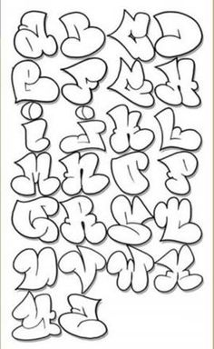 bubble graffiti font - Google Search