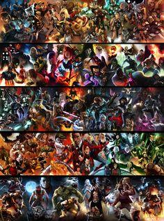 Marvel Posters by Marko Djurdjevic