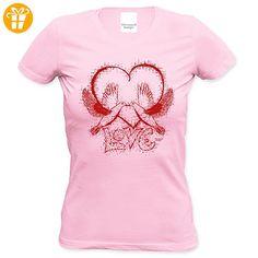 Als Liebesbeweis / T-Shirt Funshirt Girlie für Damen zum Valentin / Geburtstag / VatertagLove Farbe: rosa Gr: XL (*Partner-Link)