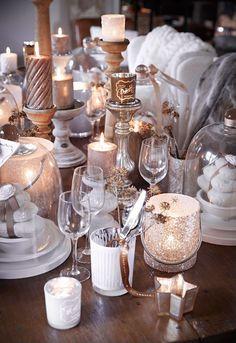 Kerst sfeer met wit en goud