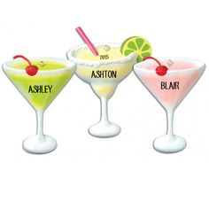 4 Margarita/4 Cosmo/4 Appletini - Hobbies-Activities Ornaments - Personalized Ornaments - Products