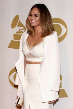 Tip: A little sliver of midriff can go a long way. // 5 style tips for dressing like bombshell swimsuit model and Sports Illustrated cover girl Chrissy Teigen.