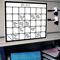 Monthly Magnetic Backed Whiteboard Calendars feature a whiteboard like surface for your appointment and reminders. Use at home or work to stay organized!