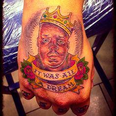 My Notorious Big Biggie Smalls Christopher Wallace Tattoo  Rap Tattoo  NewYork Brooklyn Crooklyn