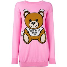 Moschino Toy Bear Paper Cut Out Sweater Dress ($695) ❤ liked on Polyvore featuring dresses, long sleeve ribbed dress, long sleeve dresses, long-sleeve cut-out dresses, cut out sweater dress and long-sleeve sweater dresses
