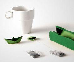 Origami tea bags, so cute!