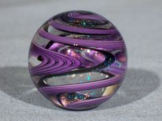 Marbles: Hand Made Art Glass James Alloway Dichroic Marble