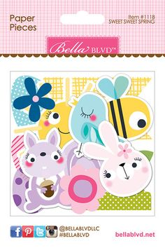Sweet Sweet Spring Paper Pieces Die Cuts - Bella Blvd