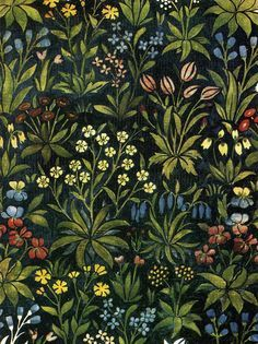 mille fleurs mural - Google Search