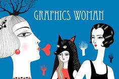 Drawing of beautiful woman by Tanor on @creativemarket