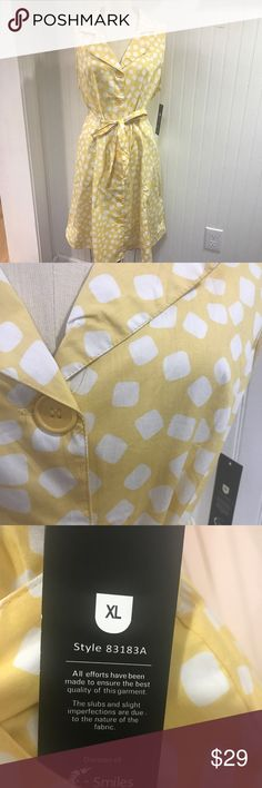 Mlle Gabrielle Yellow Polka Dot Dress XL Fits As L Mlle Gabrielle Yellow Polka Dot Dress XL Fits As L. New with tags. This is a flirty little dress reminiscent of the days when poodle skirts were the rage!!! Mlle Gabrielle Dresses Midi