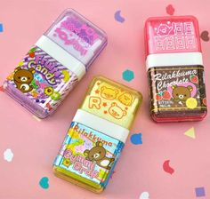 Rilakkuma Scented Eraser with Roller Cleaner