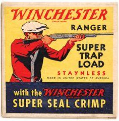"""Winchester Ranger 12Ga. 1Pc. """"Super Trap Load"""" Full Correct Box Auction"""
