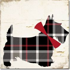 Trademark Art 'Scotty II' by Color Bakery Graphic Art on Wrapped Canvas Artist Canvas, Canvas Art, Canvas Prints, Art Prints, Canvas Size, Tartan Christmas, Shabby, Tartan Plaid, Graphic Art