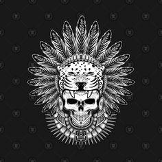 Check out this awesome 'Aztec+Jaguar+Warrior+Skull' design on Indian Skull Tattoos, Mexican Art Tattoos, Tribal Tattoos, Aztec Warrior Tattoo, Warrior Tattoos, Tattoo Design Drawings, Dark Art Drawings, Jaguar Tatoo, Mayan Tattoos