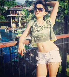 Rubina Dilaik is an Indian actress. She gained recognition by playing Radhika, the main character in the TV series Choti Bahu, and was play. Indian Tv Actress, Indian Actresses, Rubina Dilaik Hot, Hot Shorts, Hair Color For Black Hair, Hot Bikini, Bikini Babes, Celebs, Celebrities